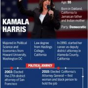 Biden picks Indian origin Kamala Harris as vice-presidential leader