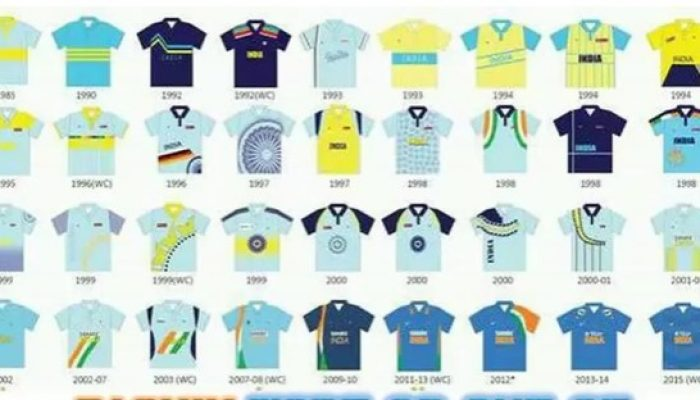 Cricket flashback: Journey of Indian Cricket Team Jersey From 1985-2020